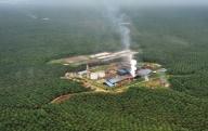 JAKARTA, 6/8 - INDUSTRI SAWIT RIAU. Sebuah unit pengolahan sawit di tengah perkebunan sawit di provinsi Riau, Kamis (5/8). Riau merupakan daerah penghasil minyak sawit mentah yang selama ini mengekspor sebagian besar hasil perkebunannya dalam bentuk bahan baku crude palm oil (cpo) dengan 91 negara tujuan. FOTO ANTARA/Fanny Octavianus/hp/10.