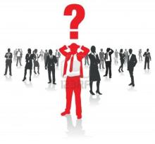 11063410-business-people-group-and-a-confused-man